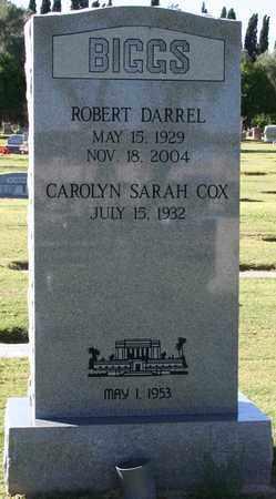 COX BIGGS, CAROLYN SARAH - Maricopa County, Arizona   CAROLYN SARAH COX BIGGS - Arizona Gravestone Photos