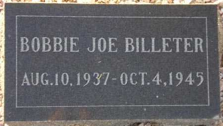 BILLETER, BOBBIE JOE - Maricopa County, Arizona   BOBBIE JOE BILLETER - Arizona Gravestone Photos