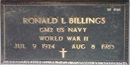 BILLINGS, RONALD L. - Maricopa County, Arizona | RONALD L. BILLINGS - Arizona Gravestone Photos
