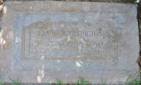 BILLINGTON, ELAINE B - Maricopa County, Arizona | ELAINE B BILLINGTON - Arizona Gravestone Photos