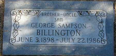 BILLINGTON, GEORGE SAMPSON 'SAM' - Maricopa County, Arizona | GEORGE SAMPSON 'SAM' BILLINGTON - Arizona Gravestone Photos