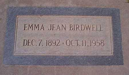 BIRDWELL, EMMA JEAN - Maricopa County, Arizona   EMMA JEAN BIRDWELL - Arizona Gravestone Photos
