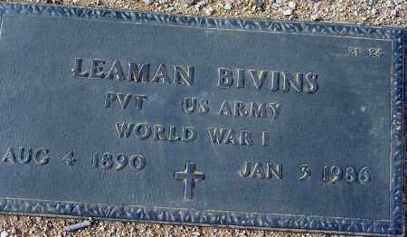 BIVINS, LEAMAN - Maricopa County, Arizona | LEAMAN BIVINS - Arizona Gravestone Photos