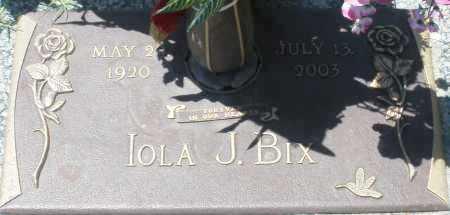 BIX, IOLA J. - Maricopa County, Arizona | IOLA J. BIX - Arizona Gravestone Photos