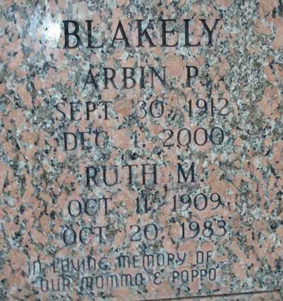 BLAKELY, RUTH M. - Maricopa County, Arizona | RUTH M. BLAKELY - Arizona Gravestone Photos