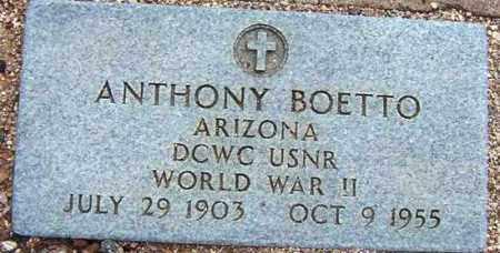 BOETTO, ANTHONY (TONY) - Maricopa County, Arizona | ANTHONY (TONY) BOETTO - Arizona Gravestone Photos