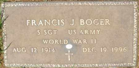 BOGER, FRANCIS J. - Maricopa County, Arizona | FRANCIS J. BOGER - Arizona Gravestone Photos