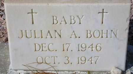 BOHN, JULIAN A. - Maricopa County, Arizona | JULIAN A. BOHN - Arizona Gravestone Photos