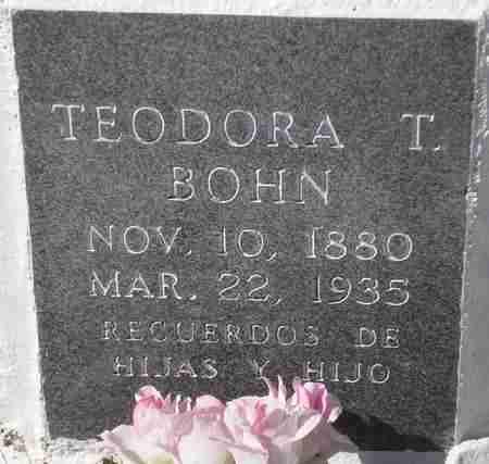 BOHN, TEODORA T. - Maricopa County, Arizona | TEODORA T. BOHN - Arizona Gravestone Photos