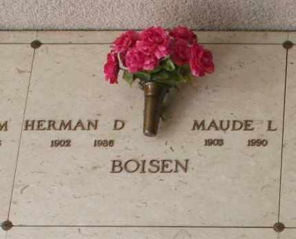 BOISEN, HERMAN D. - Maricopa County, Arizona | HERMAN D. BOISEN - Arizona Gravestone Photos