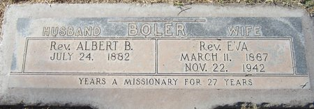 BOLER, REV. EVA - Maricopa County, Arizona | REV. EVA BOLER - Arizona Gravestone Photos