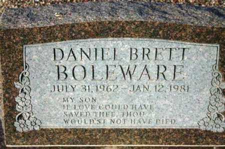 BOLEWARE, DANIEL BRETT - Maricopa County, Arizona | DANIEL BRETT BOLEWARE - Arizona Gravestone Photos