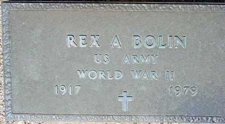 BOLIN, REX A. - Maricopa County, Arizona   REX A. BOLIN - Arizona Gravestone Photos