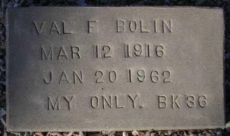 BOLIN, VAL F. - Maricopa County, Arizona   VAL F. BOLIN - Arizona Gravestone Photos
