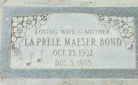 BOND, LAPRELE - Maricopa County, Arizona | LAPRELE BOND - Arizona Gravestone Photos