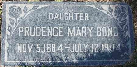 BOND, PRUDENCE MARY - Maricopa County, Arizona   PRUDENCE MARY BOND - Arizona Gravestone Photos