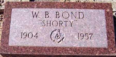 BOND, WILLIAM BURTON (SHORTY) - Maricopa County, Arizona   WILLIAM BURTON (SHORTY) BOND - Arizona Gravestone Photos