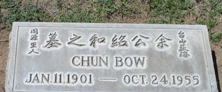 BOW, CHUN - Maricopa County, Arizona | CHUN BOW - Arizona Gravestone Photos