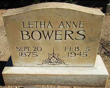 BOWERS, LETHA ANNE - Maricopa County, Arizona | LETHA ANNE BOWERS - Arizona Gravestone Photos