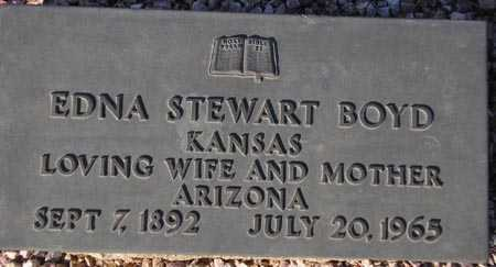 BOYD, EDNA STEWART - Maricopa County, Arizona | EDNA STEWART BOYD - Arizona Gravestone Photos