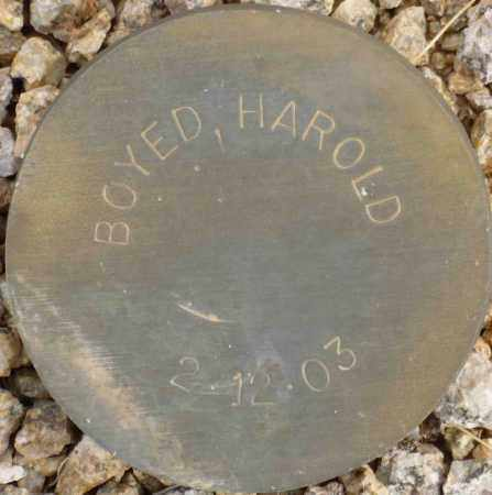 BOYED, HAROLD - Maricopa County, Arizona | HAROLD BOYED - Arizona Gravestone Photos
