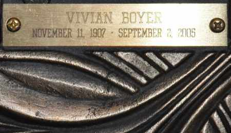 BOYER, VIVIAN - Maricopa County, Arizona | VIVIAN BOYER - Arizona Gravestone Photos
