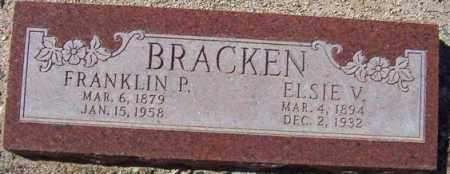 LYNCH BRACKEN, ELSIE V. - Maricopa County, Arizona   ELSIE V. LYNCH BRACKEN - Arizona Gravestone Photos