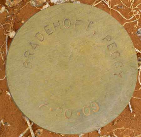 BRADEHOFT, PEGGY - Maricopa County, Arizona | PEGGY BRADEHOFT - Arizona Gravestone Photos