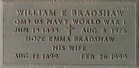 BRADSHAW, WILLIAM E. - Maricopa County, Arizona | WILLIAM E. BRADSHAW - Arizona Gravestone Photos