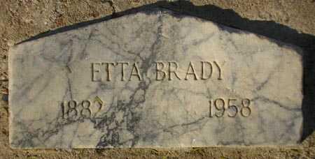 BRADY, ETTA - Maricopa County, Arizona | ETTA BRADY - Arizona Gravestone Photos