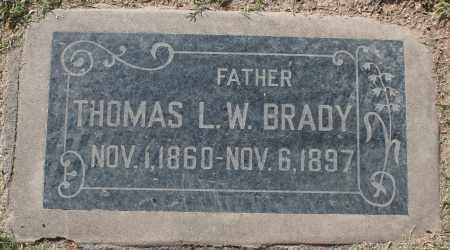 BRADY, THOMAS L W - Maricopa County, Arizona | THOMAS L W BRADY - Arizona Gravestone Photos