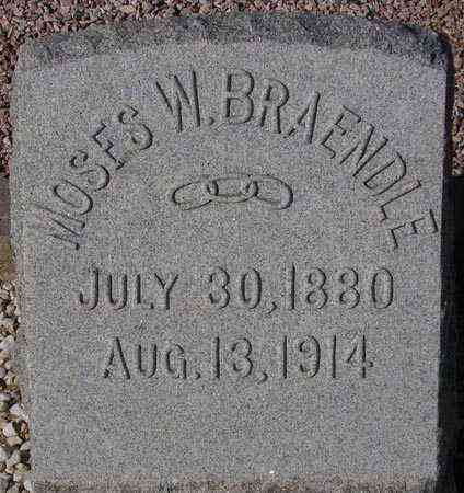 BRAENDLE, MOSES W. - Maricopa County, Arizona | MOSES W. BRAENDLE - Arizona Gravestone Photos