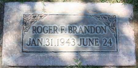 BRANDON, ROGER FREDERICK - Maricopa County, Arizona | ROGER FREDERICK BRANDON - Arizona Gravestone Photos
