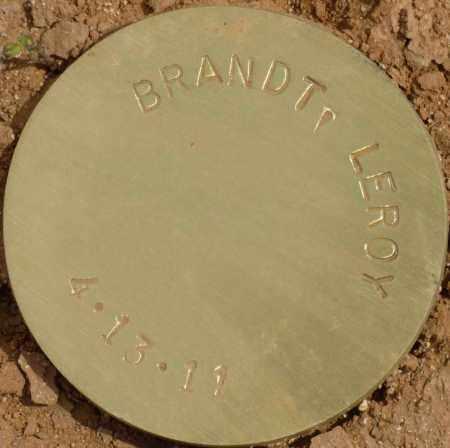 BRANDT, LEROY - Maricopa County, Arizona | LEROY BRANDT - Arizona Gravestone Photos