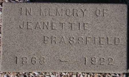 BRASSFIELD, JEANETTIE - Maricopa County, Arizona   JEANETTIE BRASSFIELD - Arizona Gravestone Photos