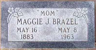 BRAZEL, MAGGIE J. - Maricopa County, Arizona | MAGGIE J. BRAZEL - Arizona Gravestone Photos