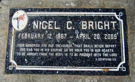 BRIGHT, NIGEL C. - Maricopa County, Arizona   NIGEL C. BRIGHT - Arizona Gravestone Photos