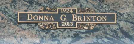 BRINTON, DONNA G - Maricopa County, Arizona | DONNA G BRINTON - Arizona Gravestone Photos