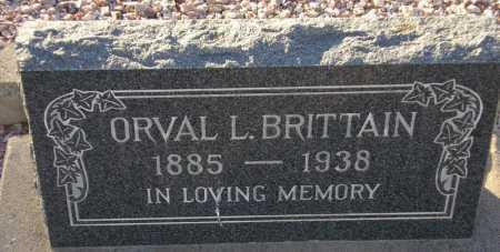 BRITTAIN, ORVAL L. - Maricopa County, Arizona   ORVAL L. BRITTAIN - Arizona Gravestone Photos