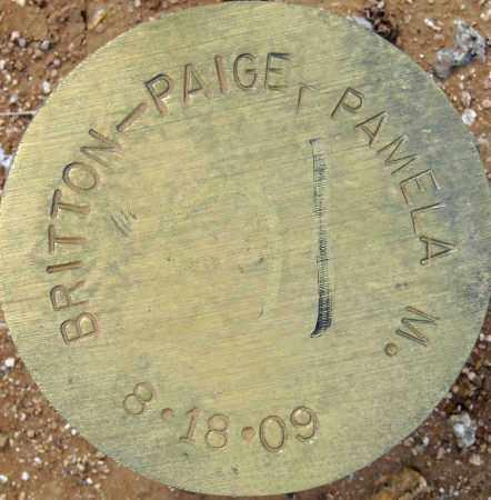 BRITTON- PAIGE, PAMELA M. - Maricopa County, Arizona   PAMELA M. BRITTON- PAIGE - Arizona Gravestone Photos