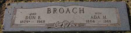 LARD BROACH, ADA M(AY) - Maricopa County, Arizona   ADA M(AY) LARD BROACH - Arizona Gravestone Photos