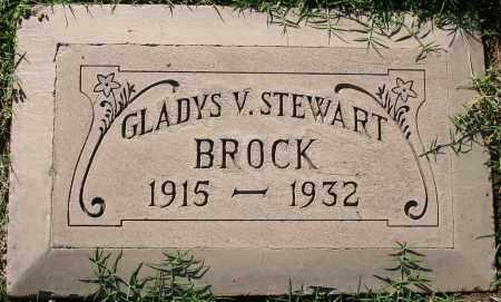 STEWART BROCK, GLADYS V - Maricopa County, Arizona | GLADYS V STEWART BROCK - Arizona Gravestone Photos
