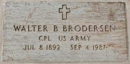 BRODERSEN, WALTER B - Maricopa County, Arizona   WALTER B BRODERSEN - Arizona Gravestone Photos
