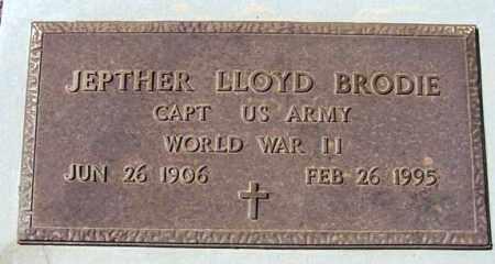 BRODIE, JEPTHER LLOYD - Maricopa County, Arizona | JEPTHER LLOYD BRODIE - Arizona Gravestone Photos