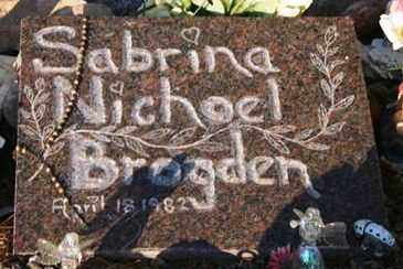 BROGDEN, SABRINA NICHOEL - Maricopa County, Arizona | SABRINA NICHOEL BROGDEN - Arizona Gravestone Photos