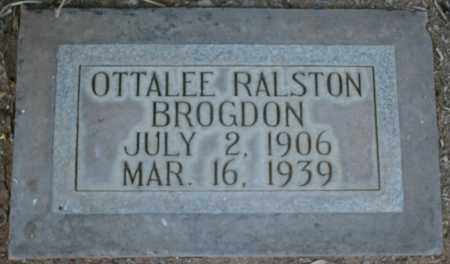 RALSTON BROGDON, OTTALEE - Maricopa County, Arizona | OTTALEE RALSTON BROGDON - Arizona Gravestone Photos