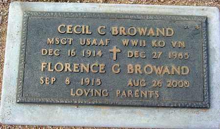 BROWAND, FLORENCE G. - Maricopa County, Arizona   FLORENCE G. BROWAND - Arizona Gravestone Photos
