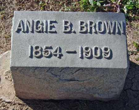BROWN, ANGIE B. - Maricopa County, Arizona   ANGIE B. BROWN - Arizona Gravestone Photos