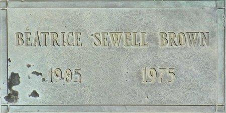 BROWN, BEATRICE SEWELL - Maricopa County, Arizona   BEATRICE SEWELL BROWN - Arizona Gravestone Photos