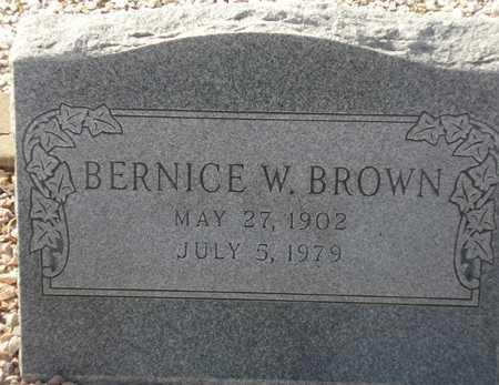 BROWN, BERNICE W. - Maricopa County, Arizona   BERNICE W. BROWN - Arizona Gravestone Photos